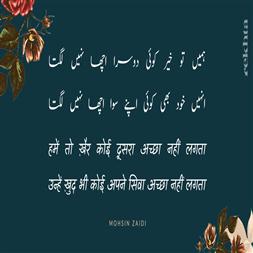 hame.n to KHair ko.ii duusraa achchhaa nahii.n lagtaa-Mohsin Zaidi